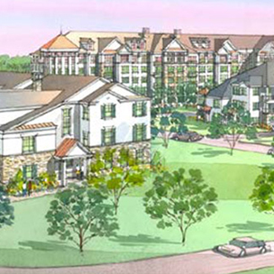 Rendering on Morris Commons development